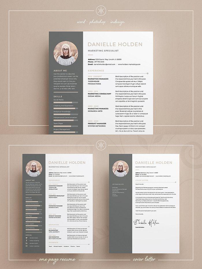 ResumeCV Danielle 178 best Resume Templates