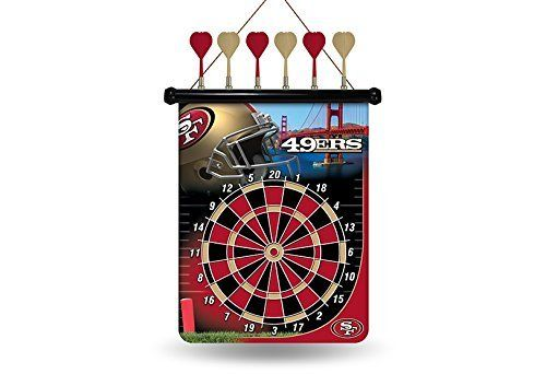 "NFL San Francisco 49ers Magnetic Dart Board by Rico. NFL San Francisco 49ers Magnetic Dart Board. 18"" x 16""."