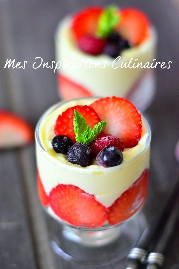 Verrines fraise mascarpone