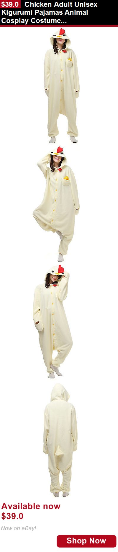 Costumes and reenactment attire: Chicken Adult Unisex Kigurumi Pajamas Animal Cosplay Costume Onesie Sleepwear BUY IT NOW ONLY: $39.0