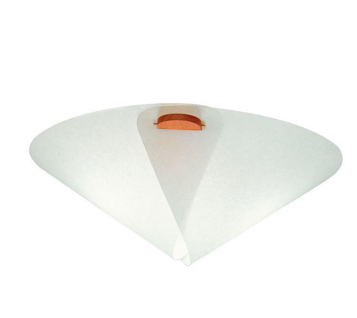 DOMUS 木製シーリングライト IRIS  清潔感のある白いシェードとブナ材を組み合わせたチャーミングな印象のシーリングライトは子供部屋にもおすすめ。サイズは2種類あります。
