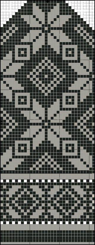 Wool & Fur: Latgale female mittens free pattern