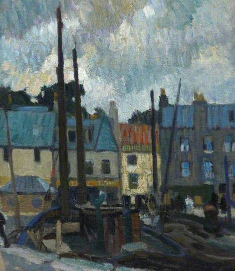 Anstruther by William George Gillies. Royal Scottish Academy of Art and Architecture.