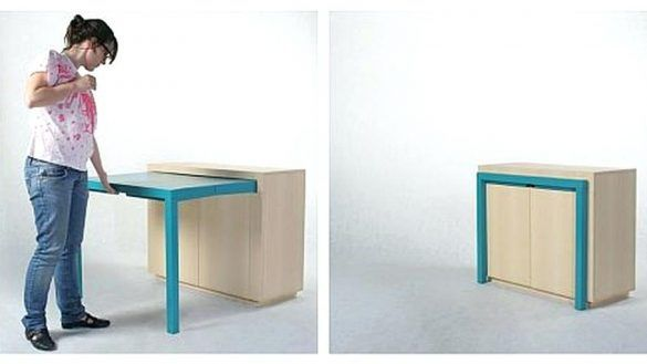 Interior Hidden Dining Table Cabinet Awesome Space Management