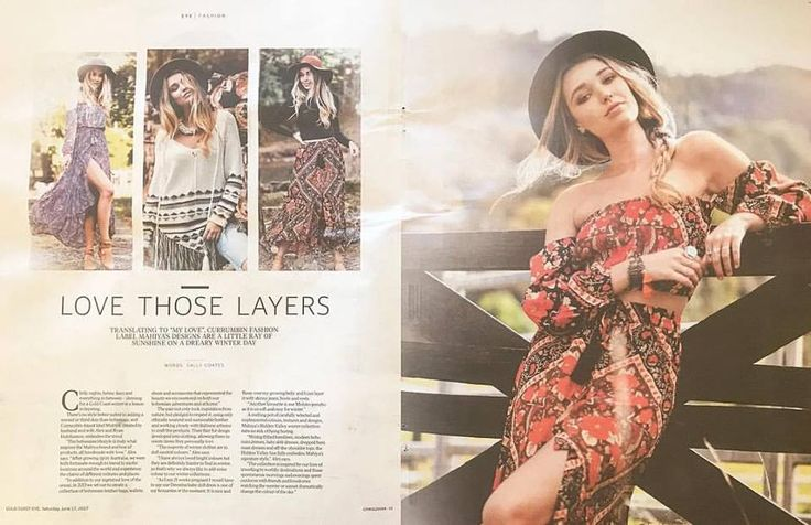 So lovely to see Mahiya featured in the latest edition of the Gold Coast Bulletin!