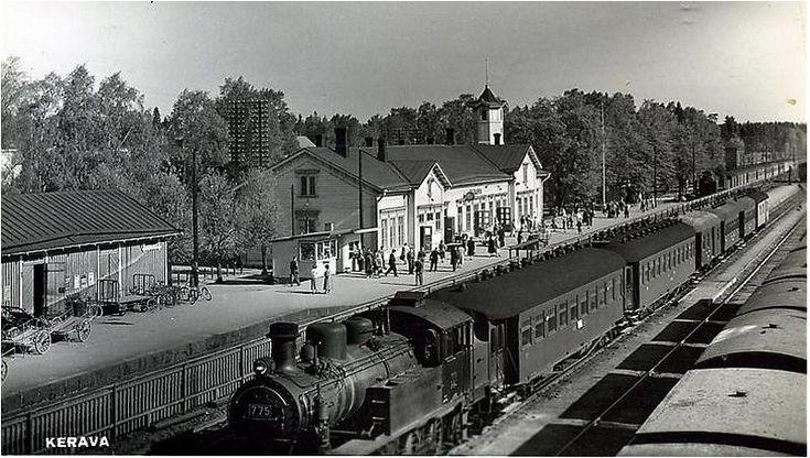 Kerava, Finland, train station, 1950s.png