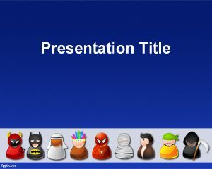 This free Halloween PowerPoint template for presentations can be used for Halloween season and is a great background with different costumes for Halloween that you can download for entertainment presentations for example to create Halloween presentation for classroom or for the School. The slide design contains a tile of small icons with different consumes including an Evil illustration, Batman, Mummy, Elvis, Scythe, and Spiderman.