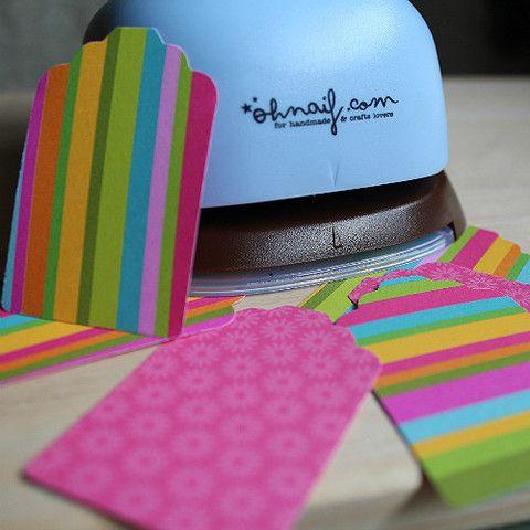 Troqueladora-perforadora en forma de etiqueta, para scrapbook y manualidades