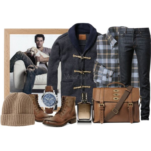 Man, 2 by melaniamar on Polyvore featuring мода, Dior Homme, Marc New York, FOSSIL, Mulberry, Uniqlo and Hollister Co.