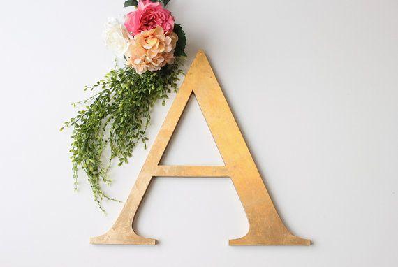 Custom Gold Monogram Initial Letter