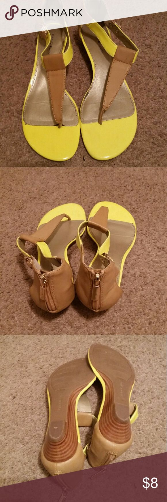 Bandolino yellow sandals size 7.5 m Great condition barely worn. Bandolino Shoes Sandals