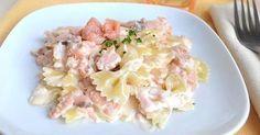 Farfalles au saumon fumé Weight watchers, une recette facile et simple à réaliser pour un repas du soir rapide.