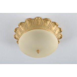 Plafones cl sicos techo bronce oro blanco y bombillas for Plafones clasicos