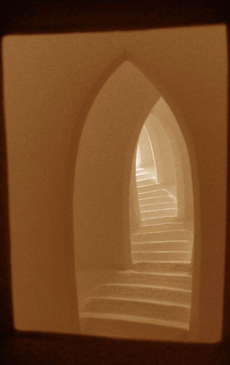 Liz Scrine - Passage (detail), amazing ceramic light boxes