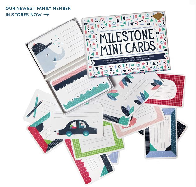 Perfect gift for parents and kids: Milestone™ Mini Cards!