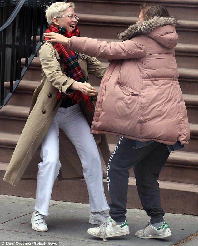 Reunited and it feels so good! Michelle Williams and daughter Matilda Ledger were overjoye...
