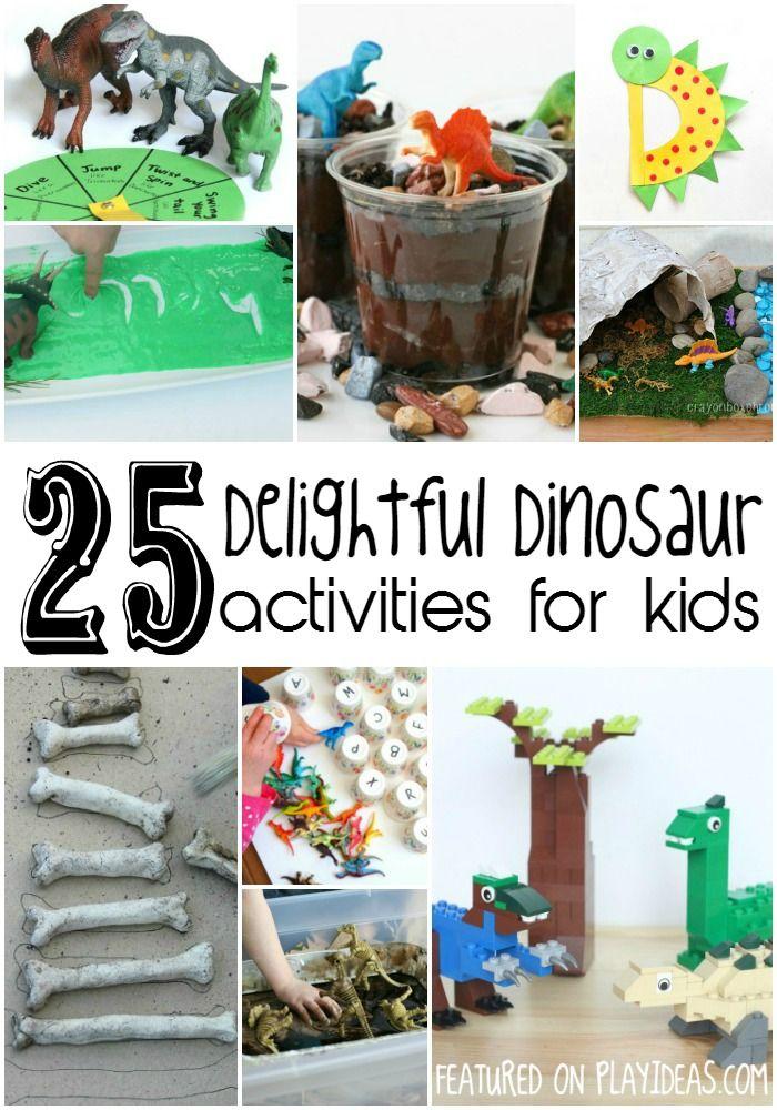 25 Dinosaur Activities for Kids via Play Ideas