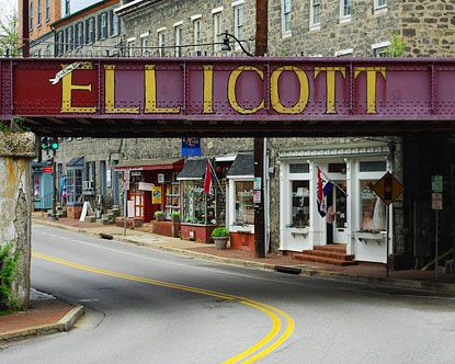 Historic District Ellicott City, Maryland Claims that it is one of the East Coast's most haunted towns boasting at least six haunted sites (old railroad town, so...)