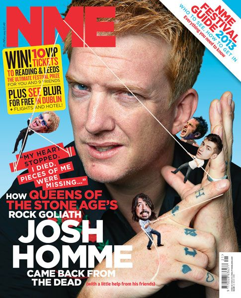 NME Magazine cover, Josh Homme from Queens Of The Stone Age, May 25th 2013
