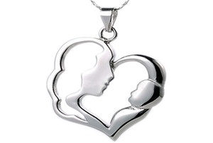 #Mother and Child Pendant – Top Quality Stainless Pendant with steel chain included - a nice #gift #idea for your #Mother