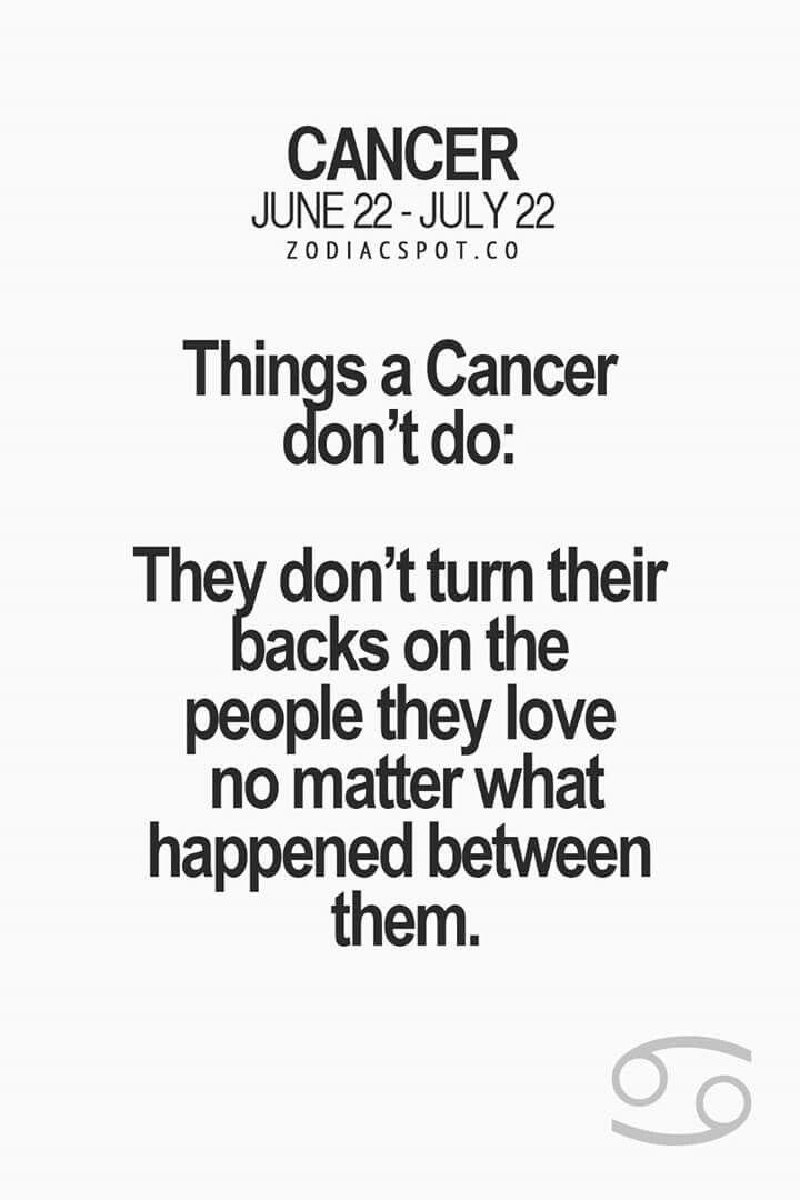 ♥ Cancer Trait ♥