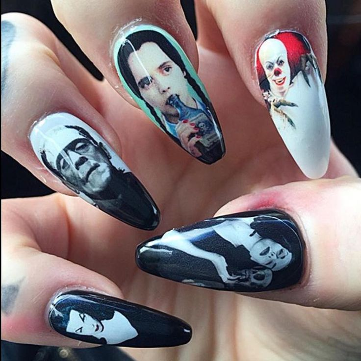 Creepy Cool Nail Art Inspiration - Horror Classic Inspired   #NailArt #Horror…