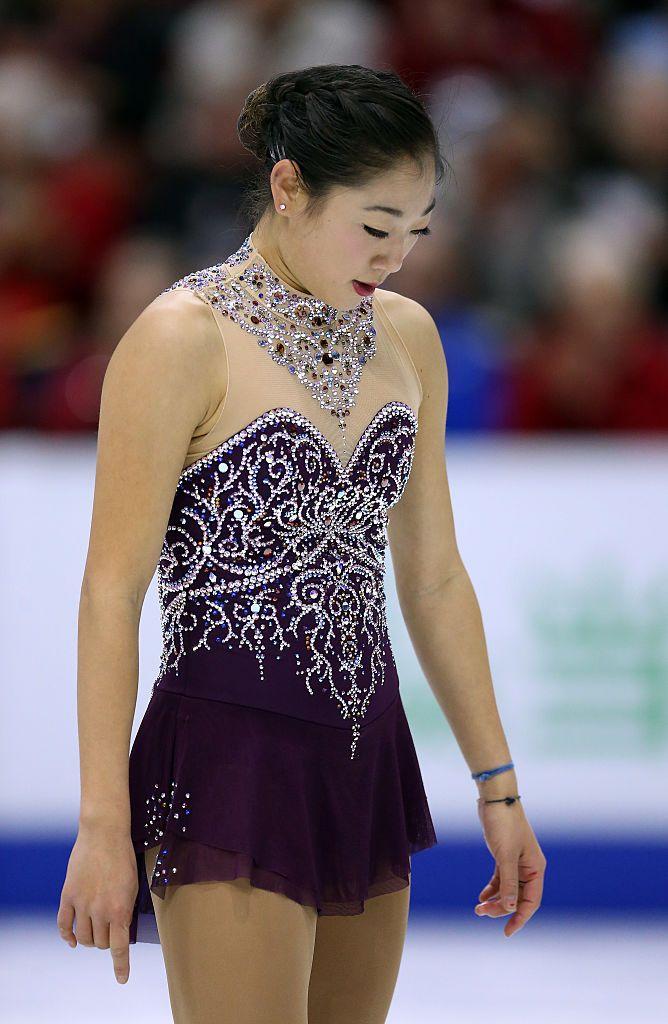Mirai Nagasu, US. ladies short program, Skate Canada Grand Prix Oct 28, 2016. (Nocturne No. 20 in C Sharp Minor by Frederic Chopin)