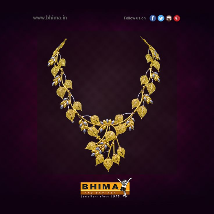 Fancy Gold Necklace !!  #jewelry #jewellery #gold #accessories #fashion #luxurystyle #style #bhima #ornaments #goldornaments