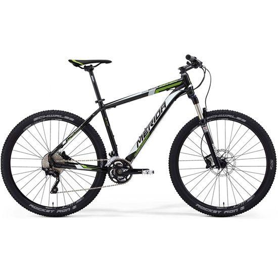 "Bicicleta Merida Big Seven XT Edition 3 27.5"" 2015 Negro / Blanco / Verde. Bicicleta de montaña con cuadro de aluminio, equipada con Shimano XT (3 platos) y horquilla Rock Shock.  Características técn..."