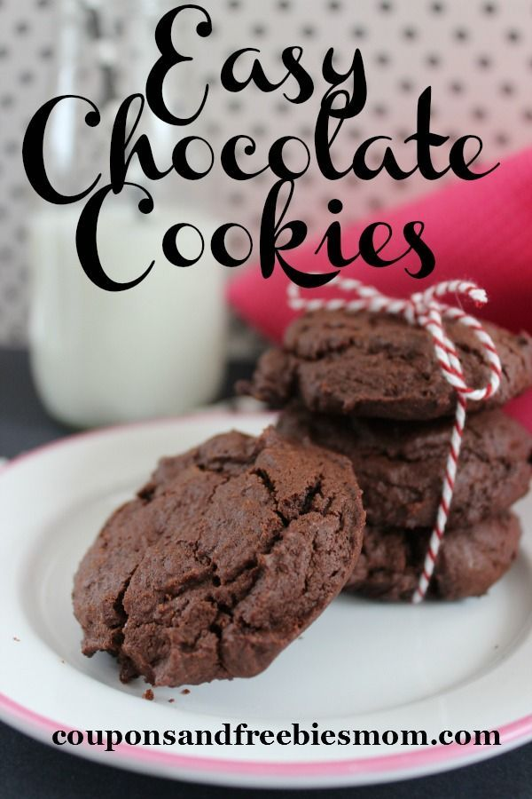 Easy chocolate cookies! Simple to make and delicious!