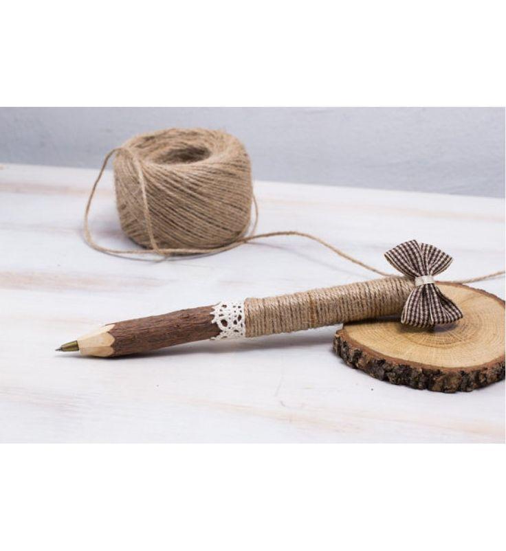 Celebrations - Wedding Guest Book Pen Rustic Tree Branch Pen