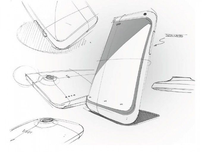 HTC shares some One X+ design sketches