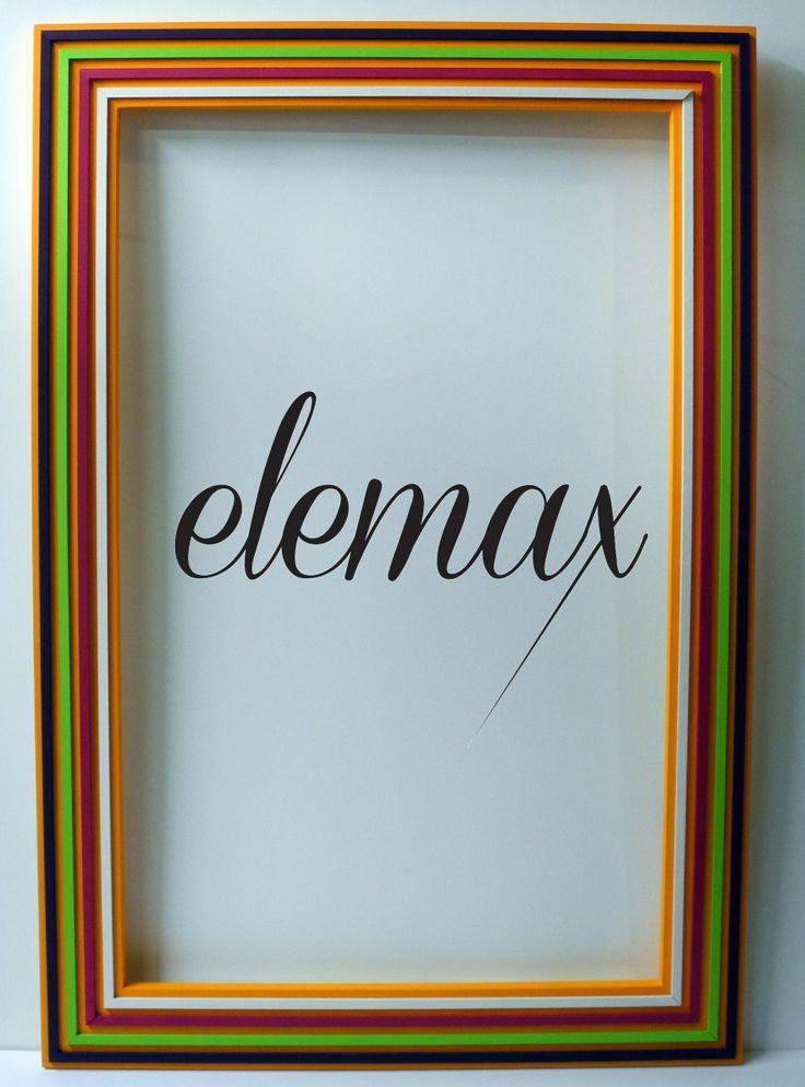 Cornice   elemaxframes   coloratissima progettata , realizzata e rifinita a mano. Pezzo unico.