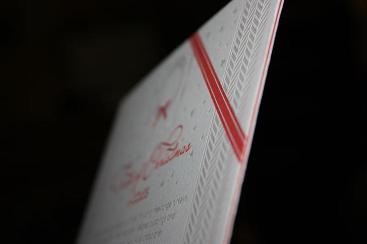2 PMS Letterpress Invitation - duplexe with red optix - www.watermarx.net