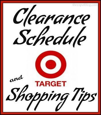 Target Clearance Schedule & Shopping Tips