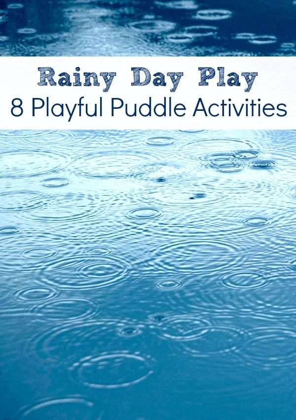 Nothing quite like a great big puddle. Rainy Day Play~8 Playful Puddle Activities for Kids