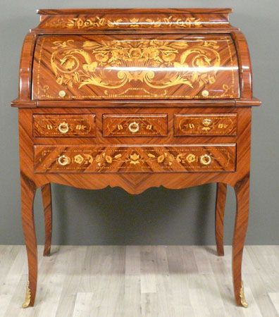 SECRETARY LUIS XV CYLINDER Secretary cylinder Louis XV inlaid rosewood and  amaranth on a solid wood. 680 best Vintage and Antique Furniture images on Pinterest