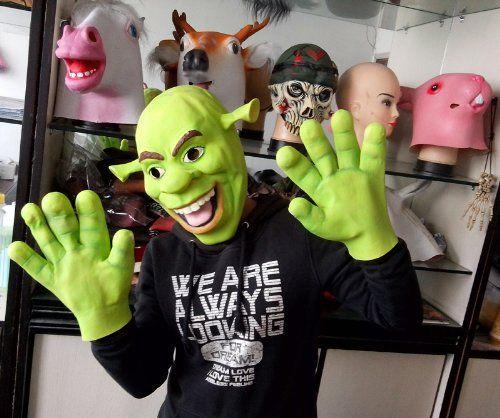 2015 - Healthy Green Latex Adult Children Cartoon Anime Movie Shrek Masks Head Gloves Set Party Danc @ niftywarehouse.com #NiftyWarehouse #Shrek #Movies #Movie