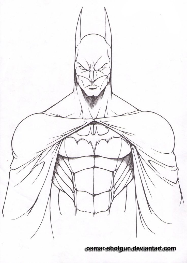 Batman Drawings   batman line art by osmar shotgun fan art traditional art drawings ...