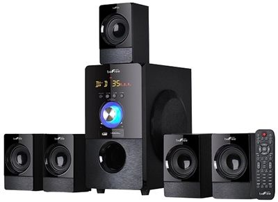 """* 5.25"""" Amplifier x 1 +3"""" Speakers x5 * Output Power:30W+10W*5 * Frequency Response:40Hz-20KHz; * Separation:≧50dB; * S/N Ration:≧75dB * Features:USB/SD/FM/Bluetooth/Remote"""