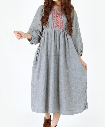 linen Waist Lace doll long dress by MaLieb on Etsy, $96.00