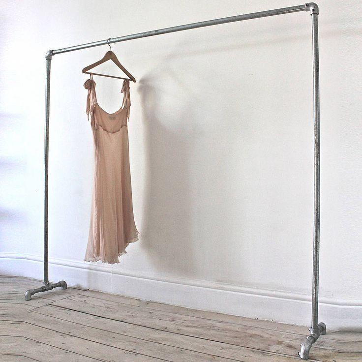 galvanised steel freestanding clothes rail by inspirit | notonthehighstreet.com