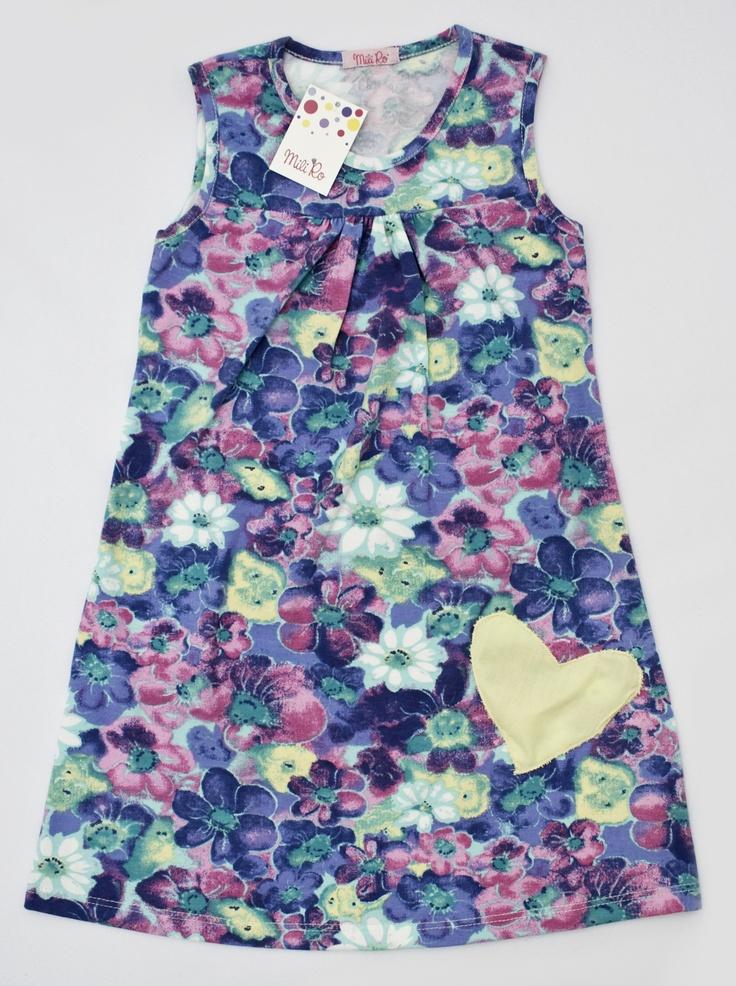 Vestido Maie: De algodón con elastano. Aplique corazón de poplín.