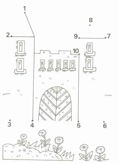 dot to dot castle worksheet