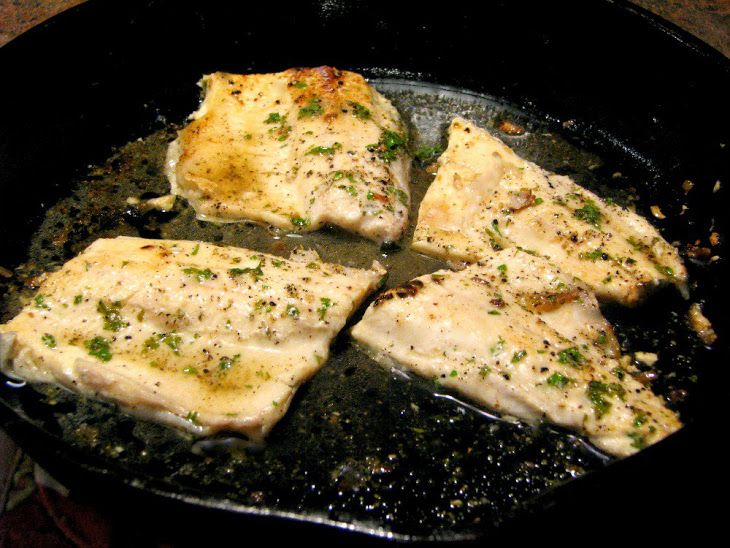 Pan seared lemon pepper rainbow trout recipe main dishes for Pan seared fish recipes
