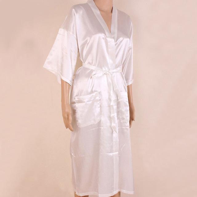 309f12800d Hot Sale Black Men Sexy Faux Silk Kimono Bathrobe Gown Chinese Style Male Robe  Nightgown Sleepwear Plus Size S M L XL XXL XXXL