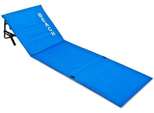matelas de plage avec dossier bleu transat 160x54x38 cm. Black Bedroom Furniture Sets. Home Design Ideas