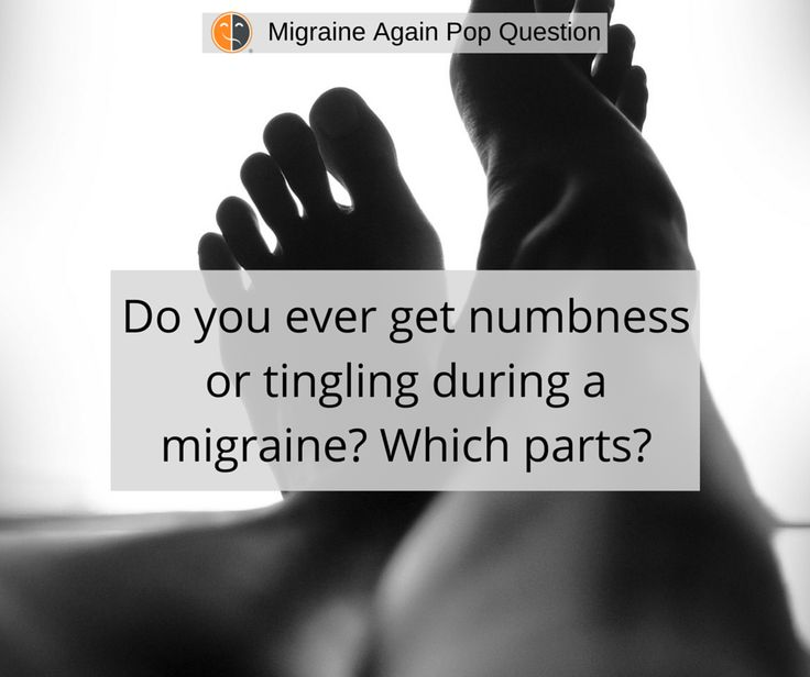 Ever get numbness? Could be a symptom of 7 Types of #Migraine. http://migraineagain.com/10-types-of-migraine-which-do-you-have/#popquestion #numbness