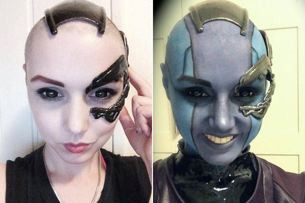 Nebula cosplay makeup, and implants