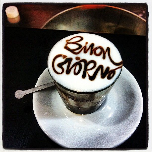 Italian food ~ #Italian stylish #Cappuccino.